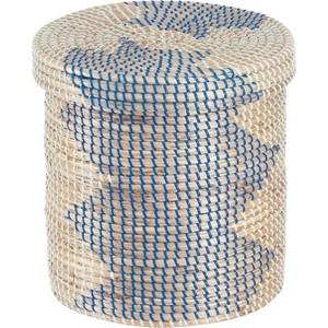 Корзина бельевая Natural House круглая Изумрудная волна, Д300 Ш300 В300, изумрудный, синий