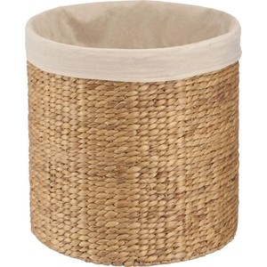 Корзина бельевая Natural House круглая Золотое плетение, Д450 Ш450 В450, песочный