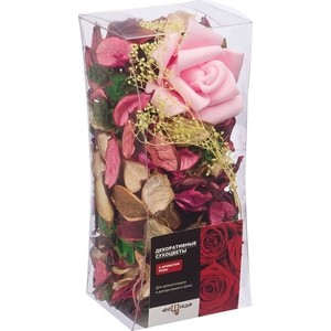 Набор сухоцветов ВеЩицы из натуральных материалов, с ароматом розы, Д80 Ш80 В175, короб