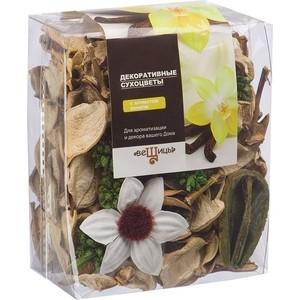 Набор сухоцветов ВеЩицы из натуральных материалов, с ароматом ванили, Д95 Ш60 В120, пакет bioritm eros fantasy 50 мл с ароматом ванили