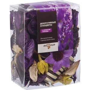 Набор сухоцветов ВеЩицы из натуральных материалов с ароматом лаванды, Д95 Ш60 В120, пакет