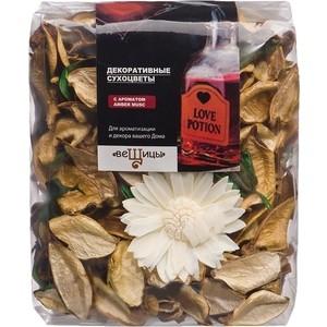 Набор сухоцветов ВеЩицы из натуральных материалов, с ароматом Amber musc, Д130 Ш60 В110, пакет