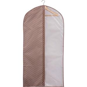 Чехол для одежды Handy Home Полька Д1200 Ш600, коричневый