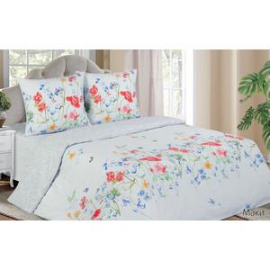Комплект постельного белья Ecotex евро, поплин, Поэтика Маки (4650074958880)