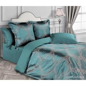 Комплект постельного белья Ecotex семейный, сатин-жаккард, Эстетика Альфредо (4650074957173)