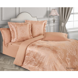 Комплект постельного белья Ecotex евро, сатин-жаккард, Эстетика Белинда (4650074956626)