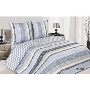Комплект постельного белья Ecotex евро, поплин, Поэтика Чикаго (4660054340307)