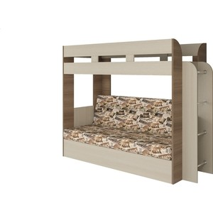 Кровать Атлант Карамель 75 Лас-Вегас (Kraft, Las-vegas 004) ясень шимо светлый, ясень шимо темный цена