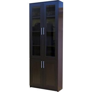 Книжный шкаф Гамма Симфония-2 80х30х220 венге