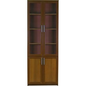 Книжный шкаф Гамма Симфония-2 80х30х220 орех