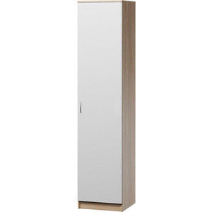 цена Шкаф для одежды Гамма Евро лайт 40х60 дуб сонома+белый онлайн в 2017 году