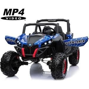 цена на Двухместный полноприводный электромобиль XMX Blue Spider UTV-MX Buggy 12V MP4 - XMX603-BLUE-PAINT-MP4