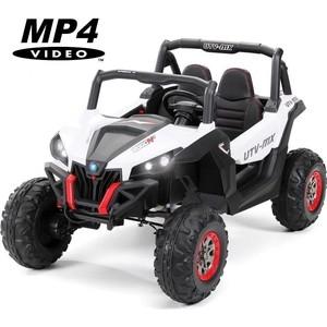 Двухместный полноприводный электромобиль XMX White UTV-MX Buggy 12V MP4 - XMX603-WHITE-MP4 автомобильные mp4 и mp5 плееры other 12v 4 0 hd mp5 1080p fm 5v mp3 mp4 1 din