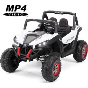 лучшая цена Двухместный полноприводный электромобиль XMX White UTV-MX Buggy 12V MP4 - XMX603-WHITE-MP4