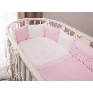 Комплект в кроватку Perina Нежена Oval 7 предметов Розовый (КПНО7-0892НО7.3-125х75) комплект в кроватку 7 предметов perina венеция лапушки голубой в7 02 4