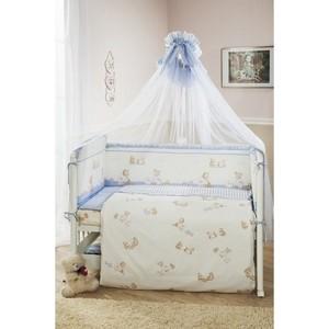 Комплект в кроватку Perina Тиффани 4 предмета Неженка Голубая (КПТ4-0502Т4-01.4)