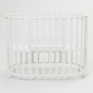Кроватка Mr Sandman Round Универсальная (7 в 1) Белый (KMSR7-0817MSR7-01)