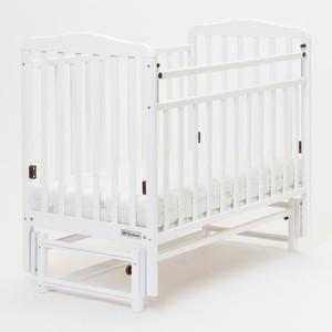 Кроватка Mr Sandman Кровать Skylark-3 с маятником Белый (KMSS3-0882MSS3-01)