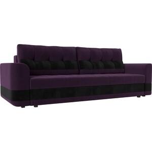Диван еврокнижка Лига Диванов Честер вельвет фиолетовый вставка черная. диван еврокнижка лига диванов честер велюр фиолетовый вставка черная