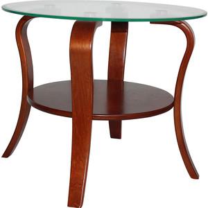 Стол журнальный Мебелик Аннет столешница - стекло (вишня)