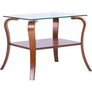 Стол журнальный Мебелик Шарм столешница- стекло (вишня)