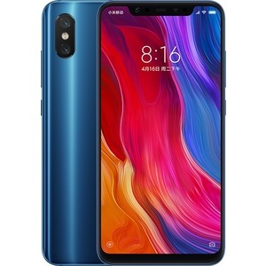 Смартфон Xiaomi Mi 8 6/128Gb Blue htc u12 128gb translucent blue