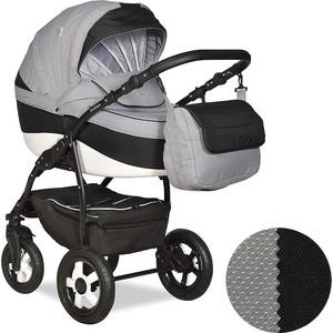 Коляска 2 в 1 Indigo CAMILA 18 Ca 46 (св.серый+черный) коляска indigo camila 17 classic ca 23 светло бежевый узор бежевый 2 в 1