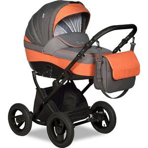 Коляска 2 в 1 Indigo CAMILA 18 Classic 12 Ca 49 (серый+оранжевый) цена