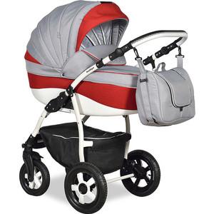 Коляска 2 в 1 Indigo CAMILA 18 Len CL 23 (серый+красный) коляска классическая bart plast fenix len 2 в 1 серая