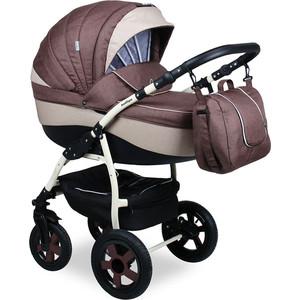 Коляска 2 в 1 Indigo CAMILA 18 Len CL 25 (коричневый+бежевый) коляска классическая bart plast fenix len 2 в 1 серая