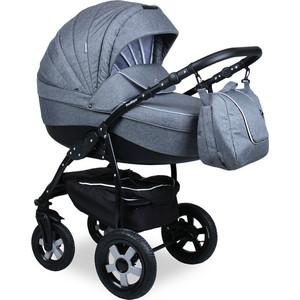 Коляска 2 в 1 Indigo CAMILA 18 Len CL 27 (серый+серый) коляска классическая bart plast fenix len 2 в 1 серая