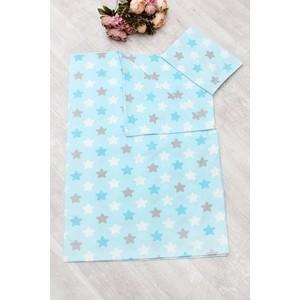 Комплект в кроватку Amaro Baby 3 предмета 1,5 спальный TIME TO SLEEP (Прянички, голубой)