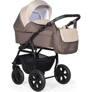 Коляска 2 в 1 Indigo CHARLOTTE 18 Ch 37 (коричневый+бежевый) коляска 2 в 1 для двоих детей riko team 04 бежевый коричневый