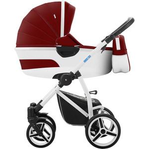Коляска 2 в 1 Aroteam EMILIO 18 01 (красный+белая кожа) коляска rudis solo 2 в 1 графит красный принт gl000401681 492579