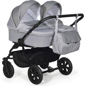 Коляска для двойни Indigo CHARLOTTE 18 DUO Ch 39 (св.серый+серый) коляска indigo charlotte duo ch 05 св коричн дети для двойни