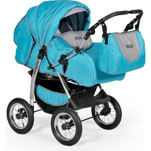 Коляска трансформер Indigo MAXIMO Ma 05 (голубой+графит) коляска трансформер indigo capri pco cp 06 бирюзовый серый