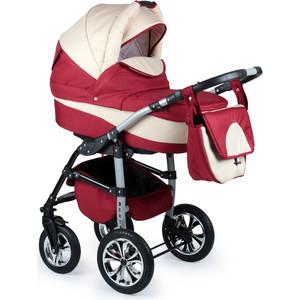 Коляска 2 в 1 Alis BERTA Be 04 (красный+бежевый) коляска 2 в 1 для двоих детей riko team 04 бежевый коричневый