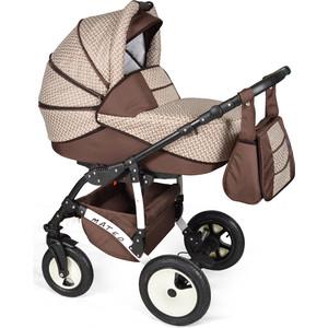 Коляска 3 в 1 Alis MATEO 17 F Ma 30 (бежевый+коричневый) коляска 2 в 1 для двоих детей riko team 04 бежевый коричневый