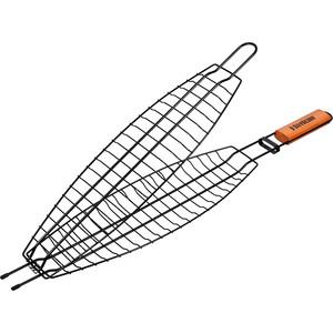 Решетка-гриль Boyscout 61309 для рыбы с антипригарным покрытием 410х135 мм.