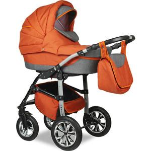 Коляска 2 в 1 Smile Line INDIANA 17 Len /IL 03 (оранжевый серый) (УТ0007667) коляска классическая bart plast fenix len 2 в 1 серая