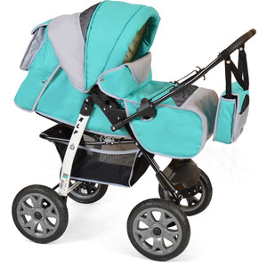 Коляска прогулочная Smile Line ALF I /Al 06 (бирюзовый св.серый) (УТ0007611) коляска трехколесная i likebaby babyboom