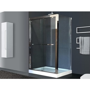 Душевой уголок Royal Bath 140x90 прозрачный, зеркальный глянец, левый (RB-L-2011-1400-9L)