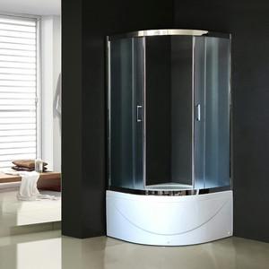 Душевой уголок Royal Bath BK 100х100х200 шиншилла (RB100BK-C-CH) душевой уголок royal bath 120 80 198 стекло шиншилла правый rb8120hp c r