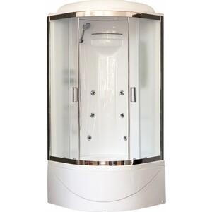 Душевая кабина Royal Bath BK2 90х90х217 стекло шиншилла (RB90BK2-M-CH) душевая кабина royal bath bk2 90х90х217 стекло прозрачное rb90bk2 t ch