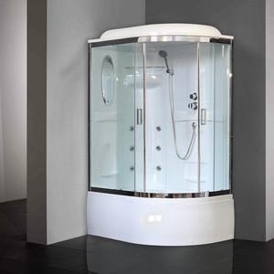 лучшая цена Душевая кабина Royal Bath BK2 120х80х217 стекло прозрачное, левая (RB8120BK2-T-CH-L)