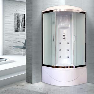 Душевая кабина Royal Bath BK3 100х100х217 стекло белое/шиншилла (RB100BK3-WC-CH)