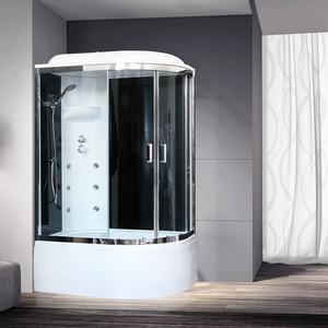 Душевая кабина Royal Bath BK3 120х80х217 стекло черное/прозрачное, левая (RB8120BK3-BT-CH-L)