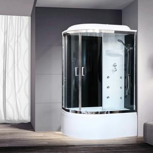Душевая кабина Royal Bath BK3 120х80х217 стекло черное/прозрачное, правая (RB8120BK3-BT-CH-R)