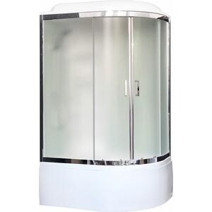 Душевая кабина Royal Bath BK3 120х80х217 стекло белое/шиншилла, левая (RB8120BK3-WC-CH-L)