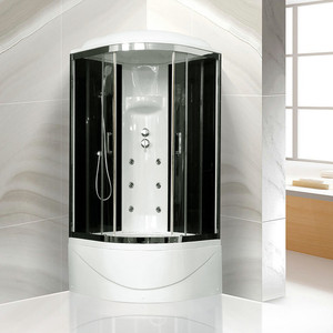 Душевая кабина Royal Bath BK3 90х90х217 стекло черное/прозрачное (RB90BK3-BT-CH)